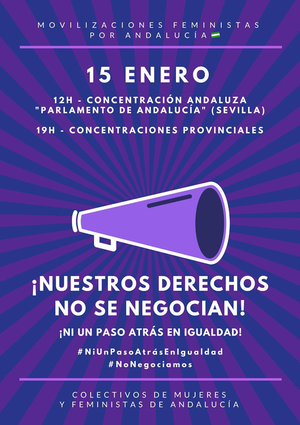 Cartel concentración feminista