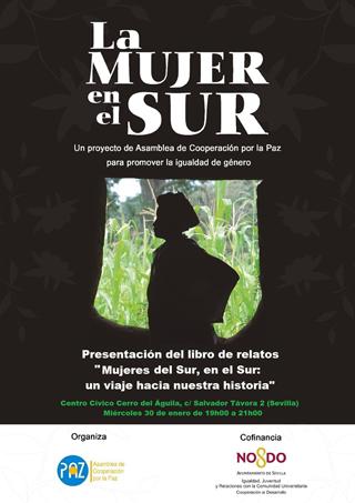 Cartel presentación libro mujeres en el sur