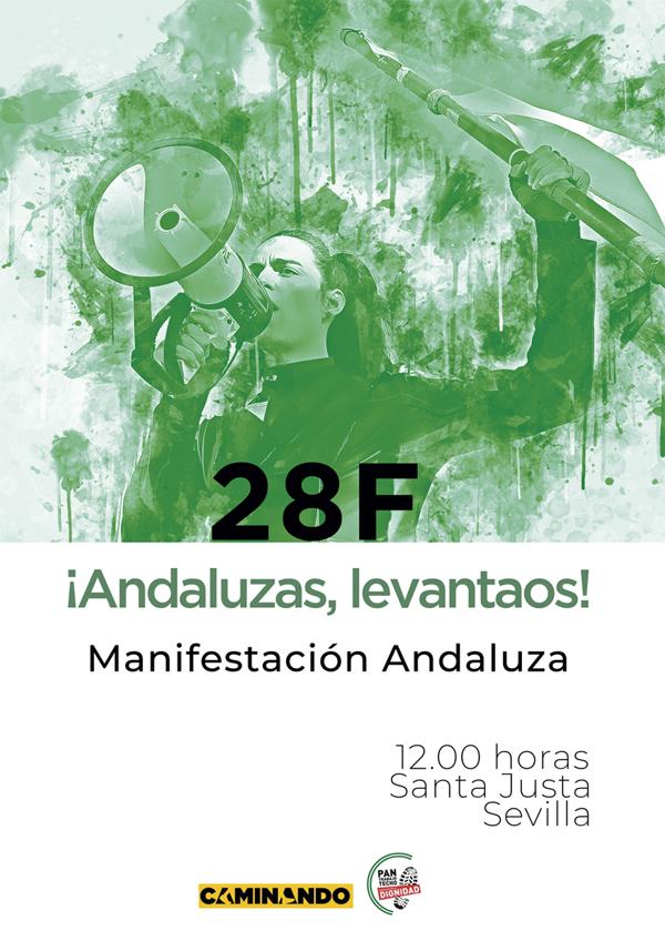Manifestación 28F Día de Andalucía