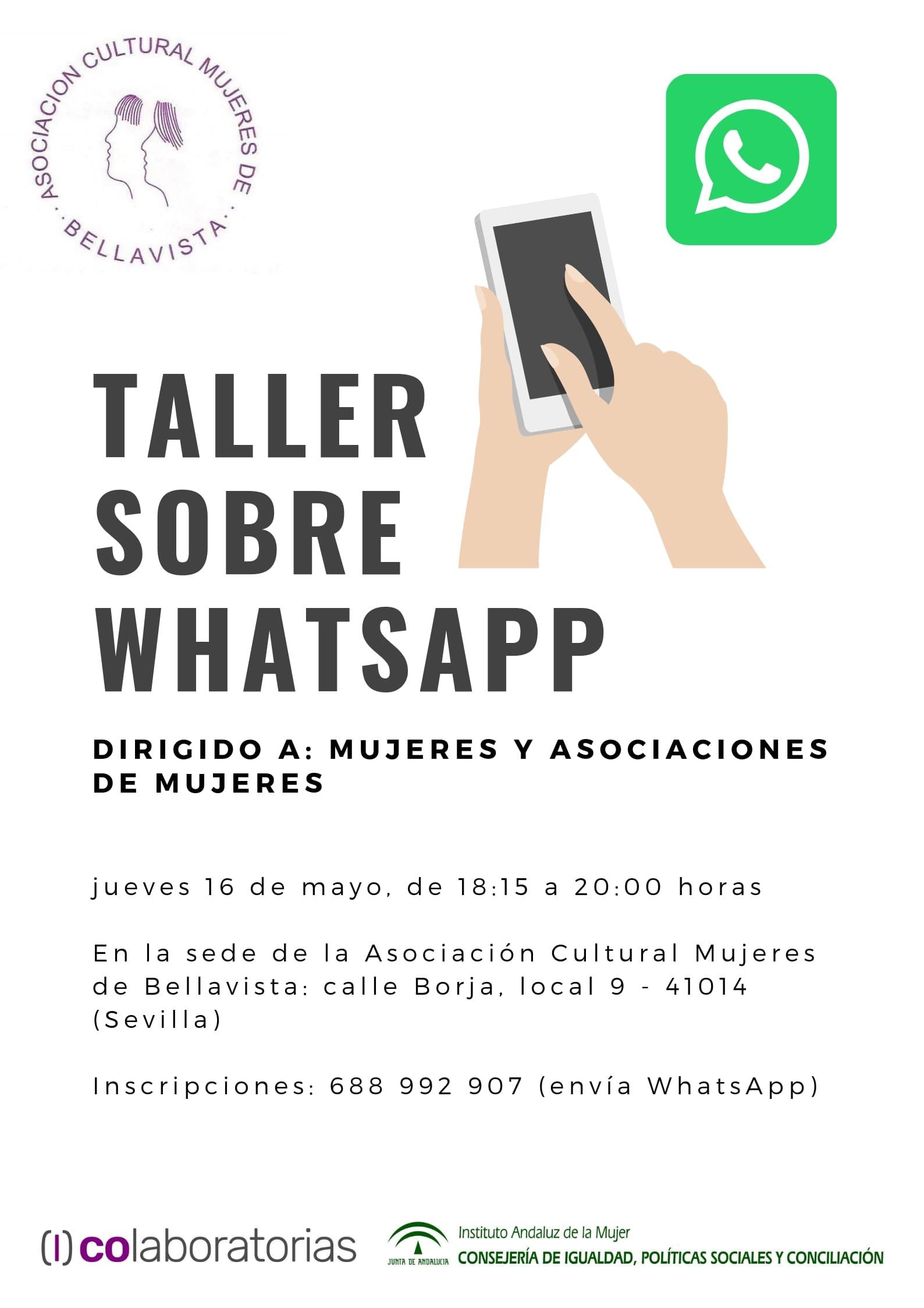 cartel WHATSAPP asociación cultural mujeres de bellavista 16052019