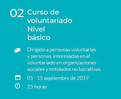 Curso de voluntariado nivel básico