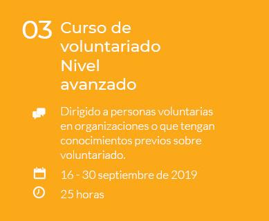 Curso de voluntariado Nivel avanzado