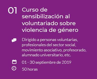 Curso de sensibilización al voluntariado sobre violencia de género