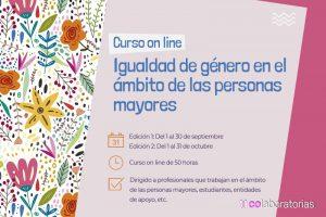 Curso on line Igualdad de género en el ámbito de las personas mayores